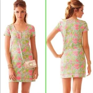 Lilly Pulitzer flamingo printed dress